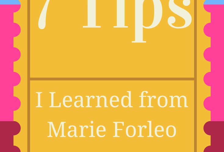 LEARNING FROM MARIE FORLEO